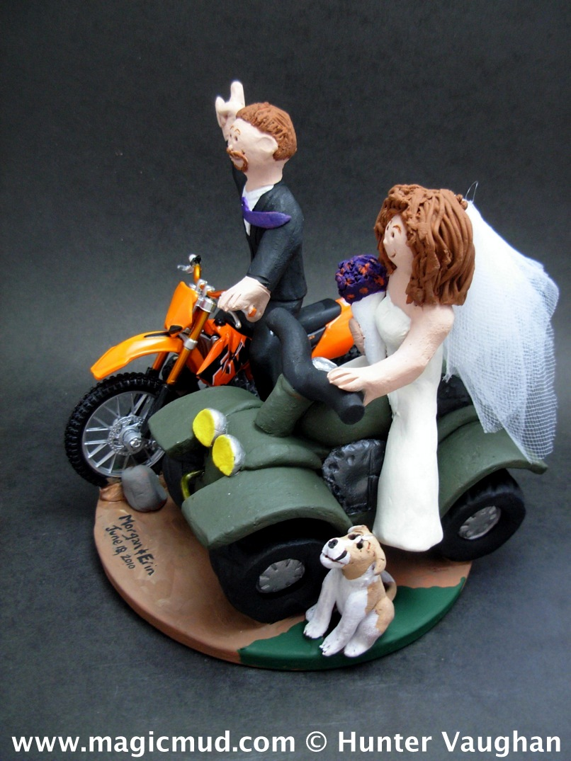 ATV and Dirt Bike Wedding Cake Topper