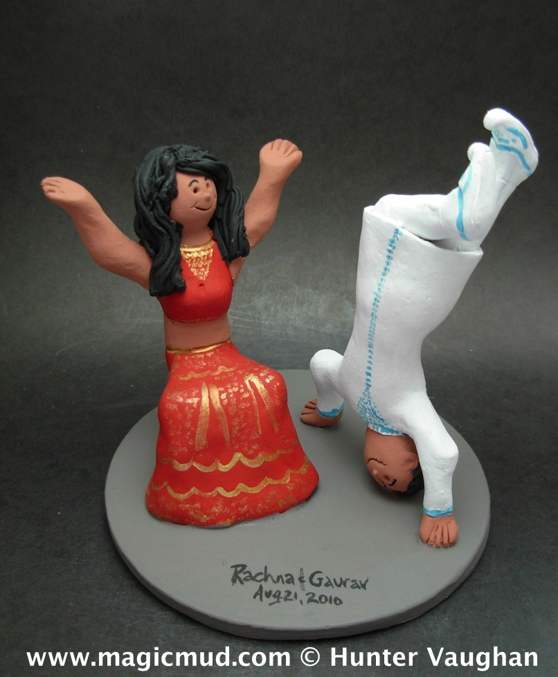 Bhangra Dancer's Wedding Cake Topper