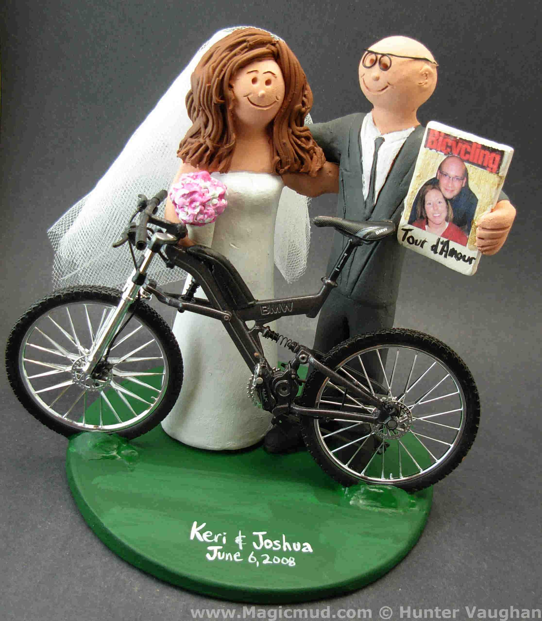 Bicycle Wedding Cake Topper