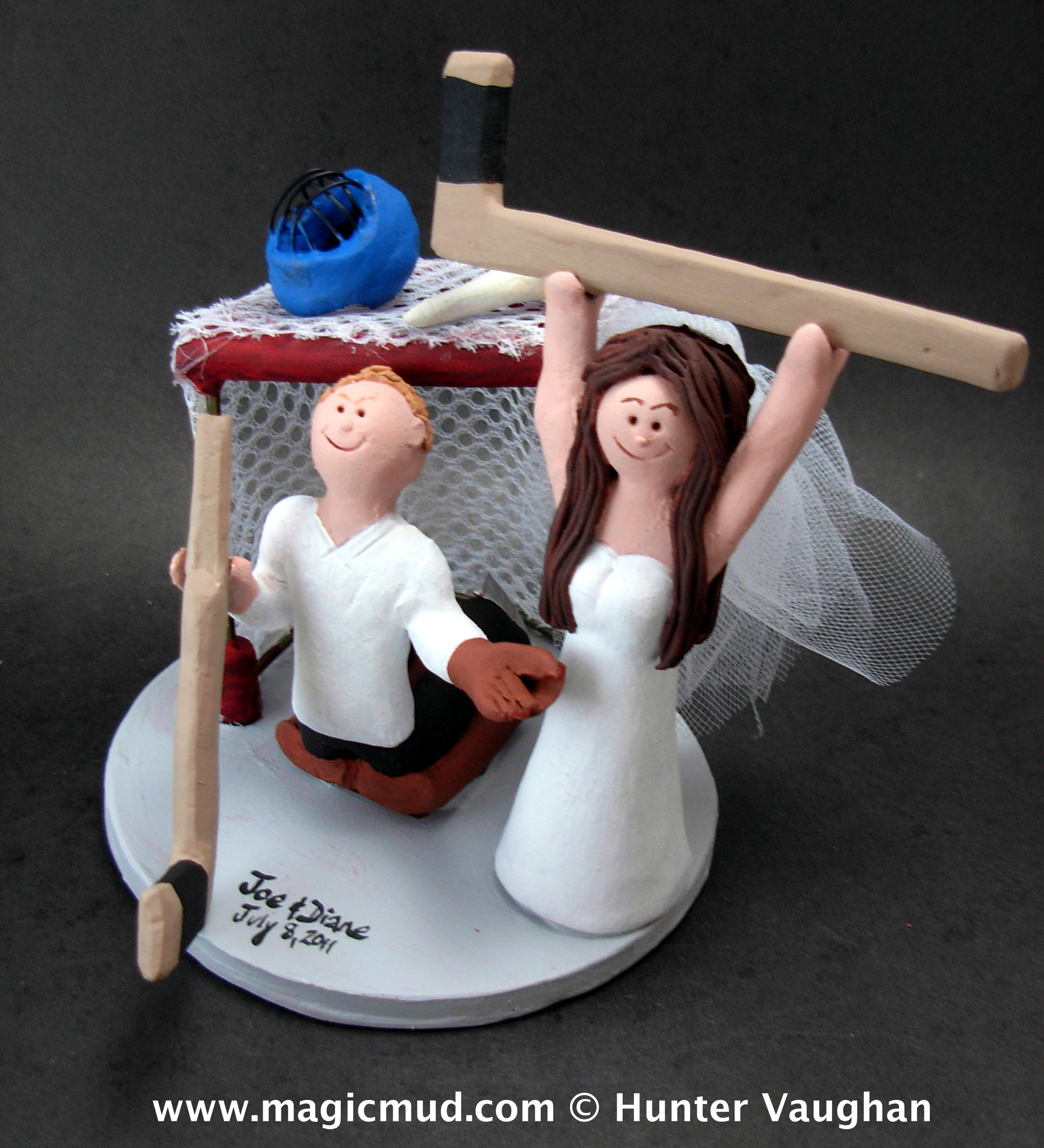 Hockey Goalie Wedding Cake Topper
