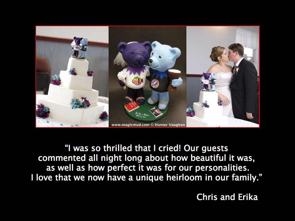 Chris and Erika's Jerry Bear Wedding Cake Topper