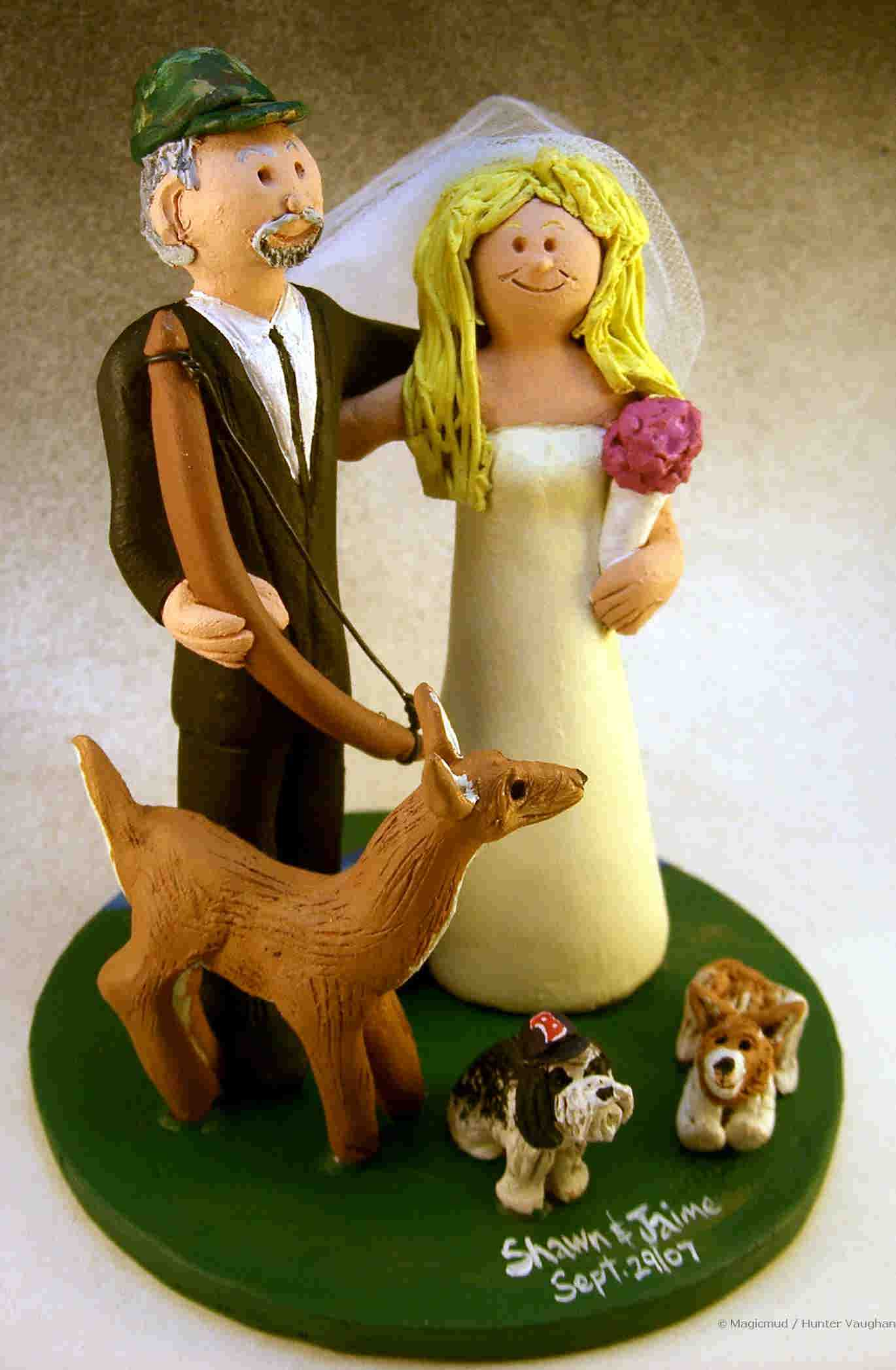 Deer Hunters Wedding Cake Topper