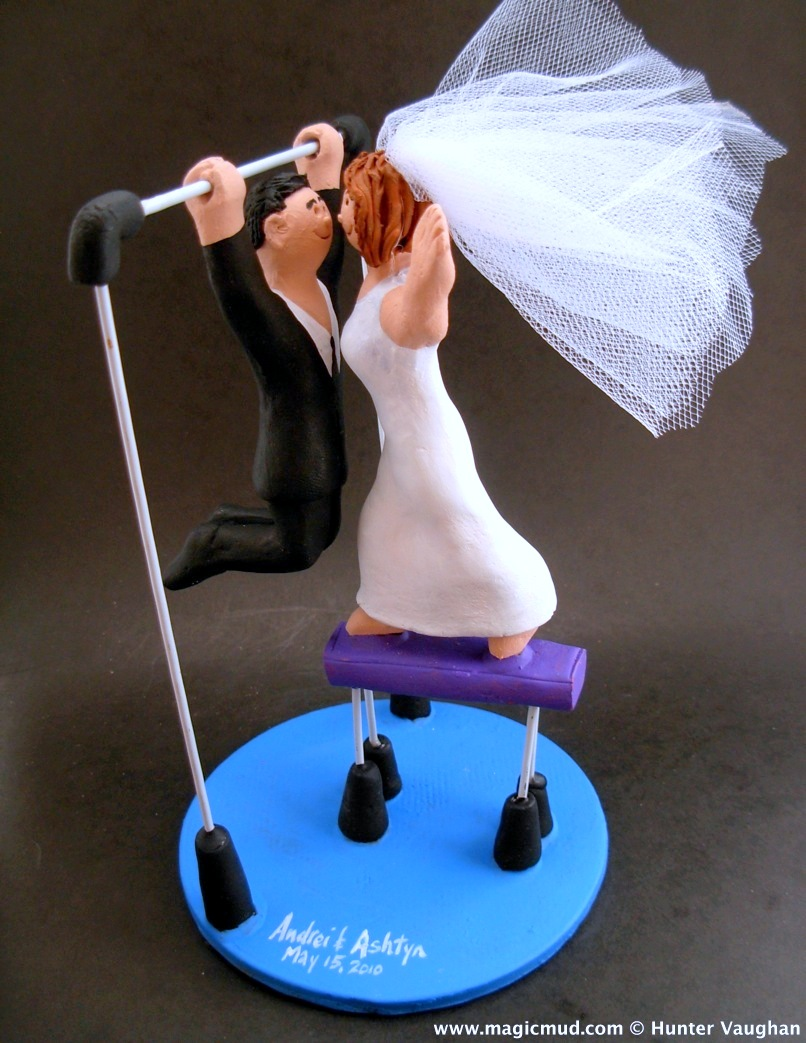 Gymnast's Wedding Cake Topper