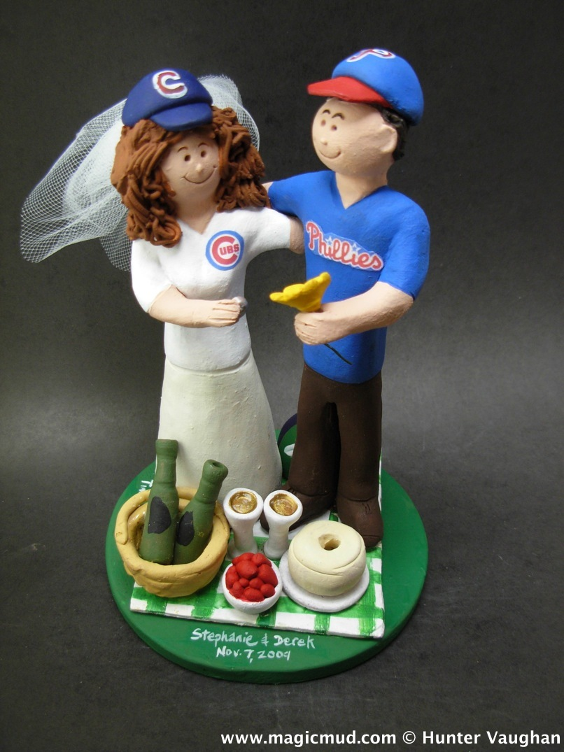 Philadelphia Phillies vs. Chicago Cubs Wedding Cake Topper