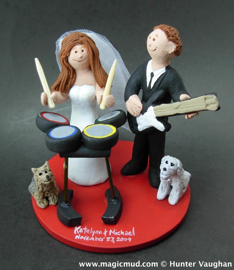 Rock Band Wedding Cake Topper