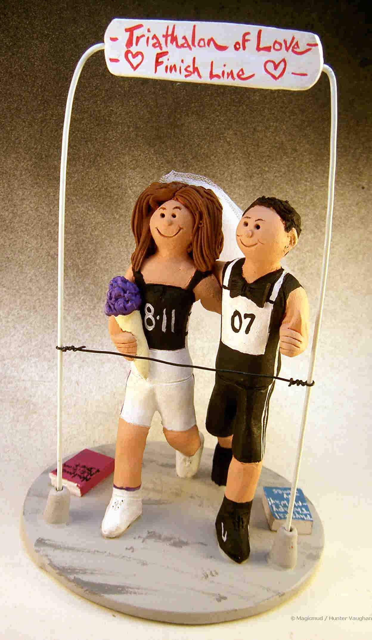Runner's Wedding Cake Topper