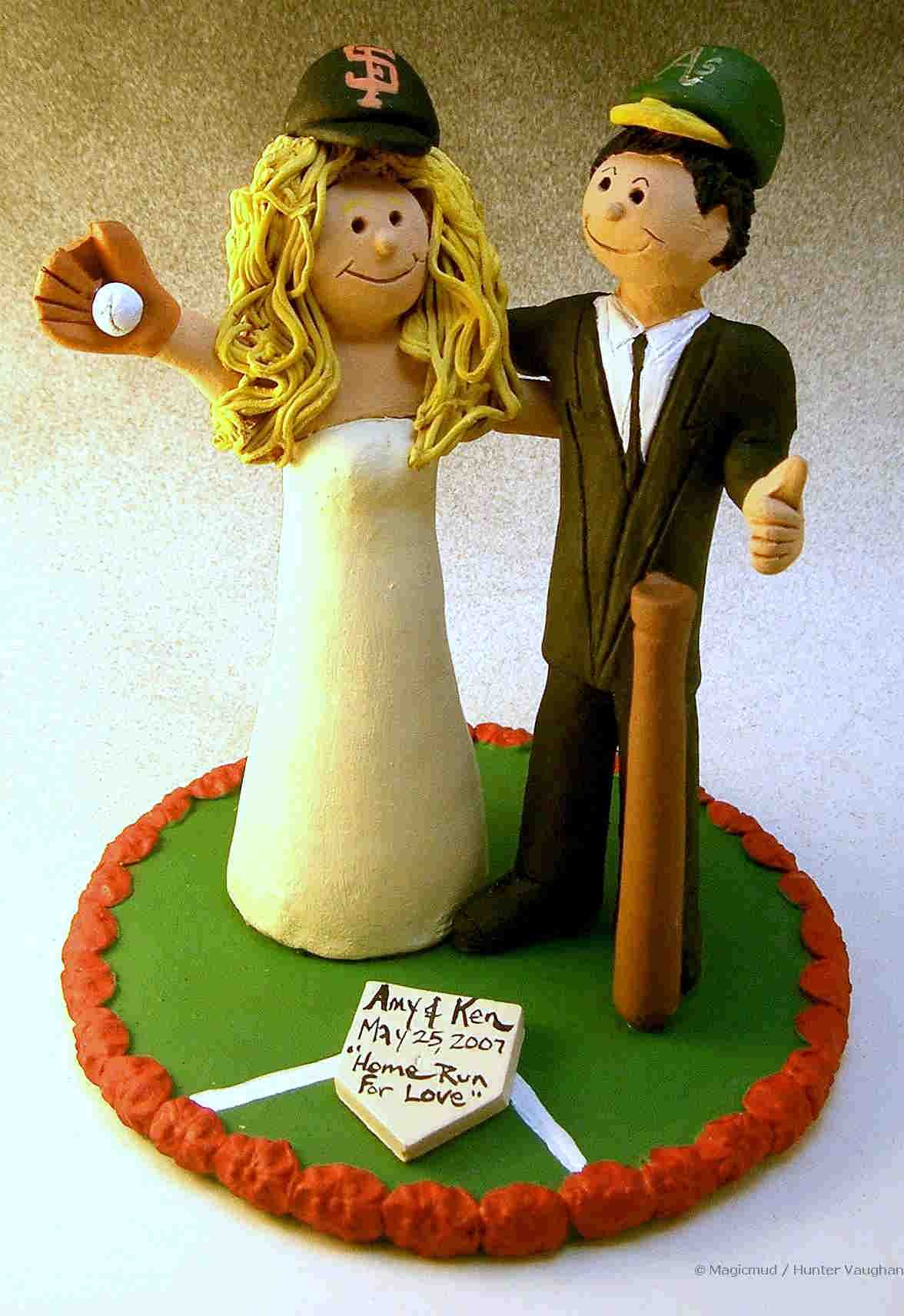 San Francisco Giant's Baseball Wedding Cake Topper