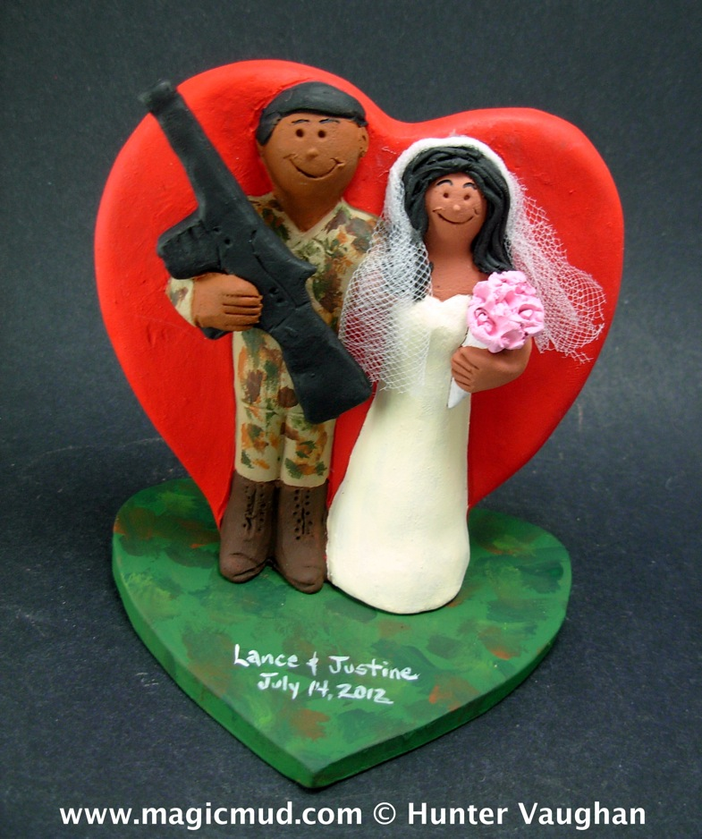 Soldier's Wedding Cake Topper