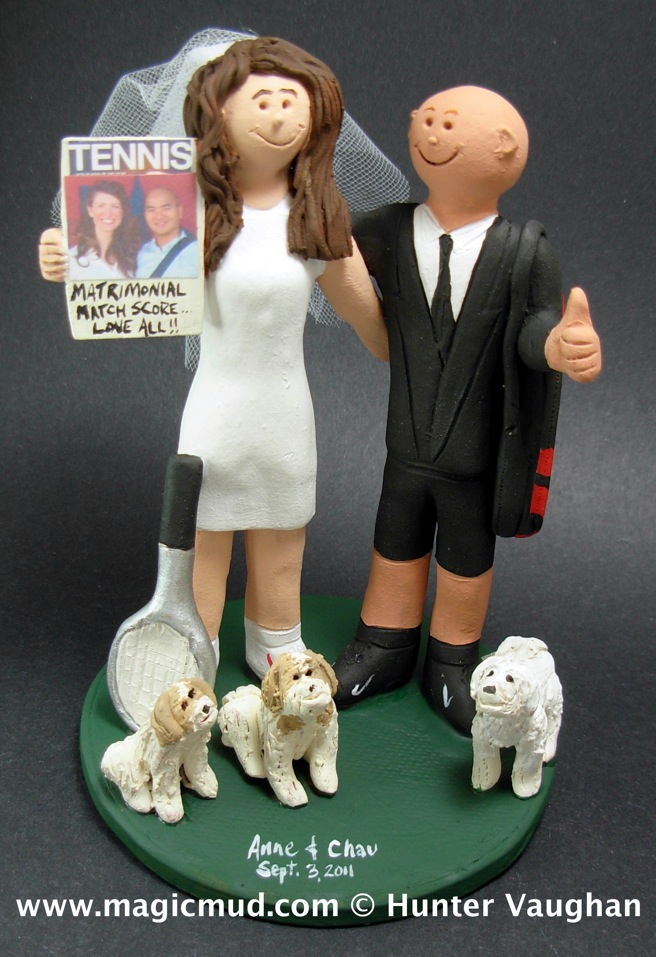 Tennis Players Wedding Cake Topper