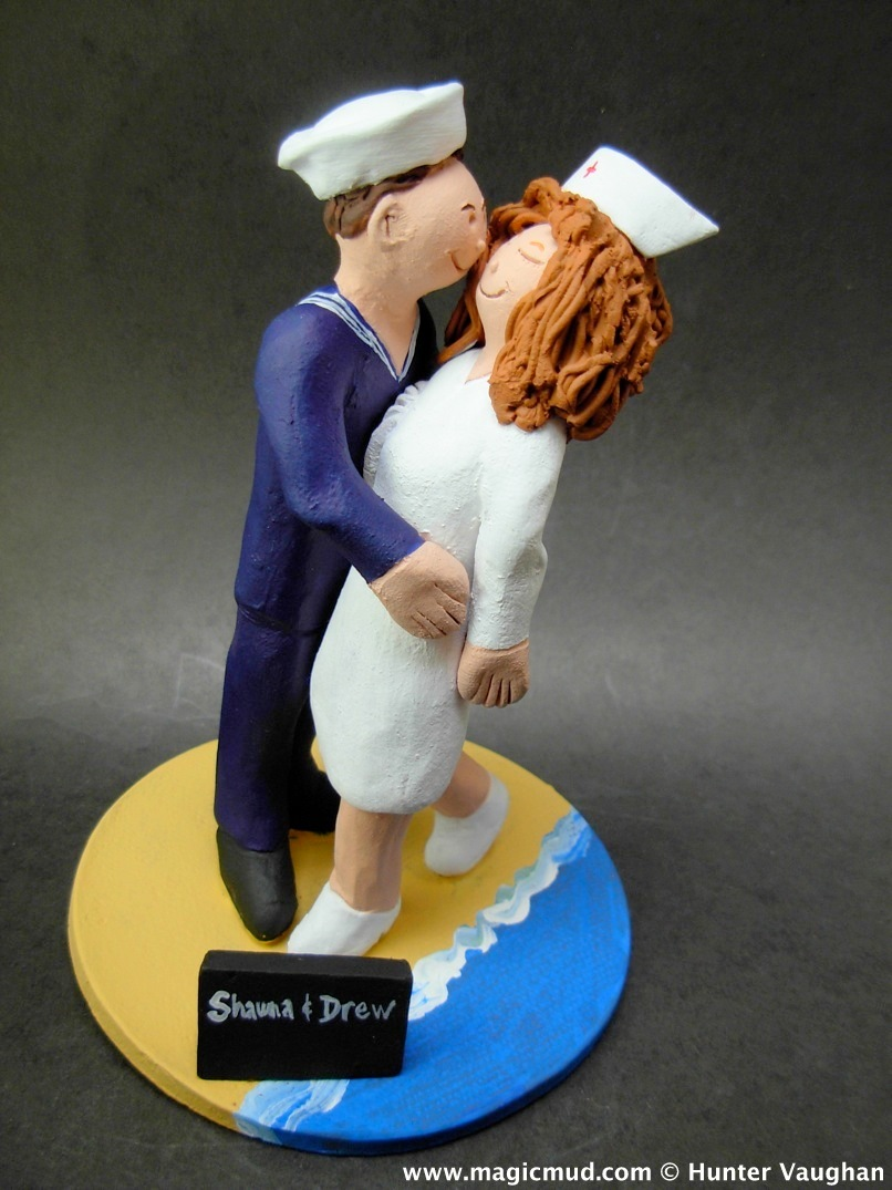 U.S. Navy Sailor's Wedding Cake Topper