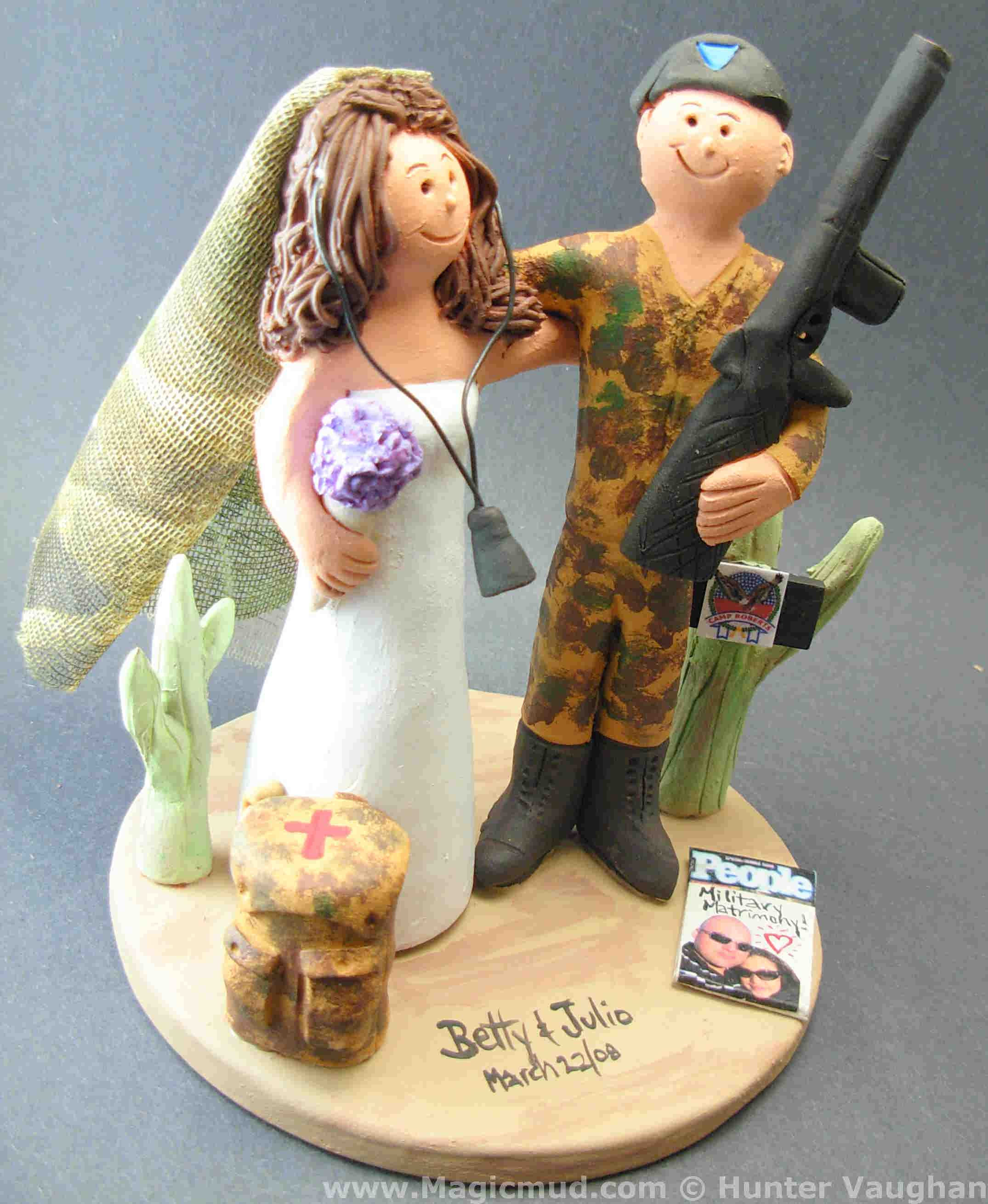 US Military Wedding Cake Topper