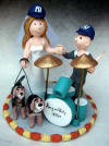 Wedding Cake Topper for a Drummer Musician's Wedding