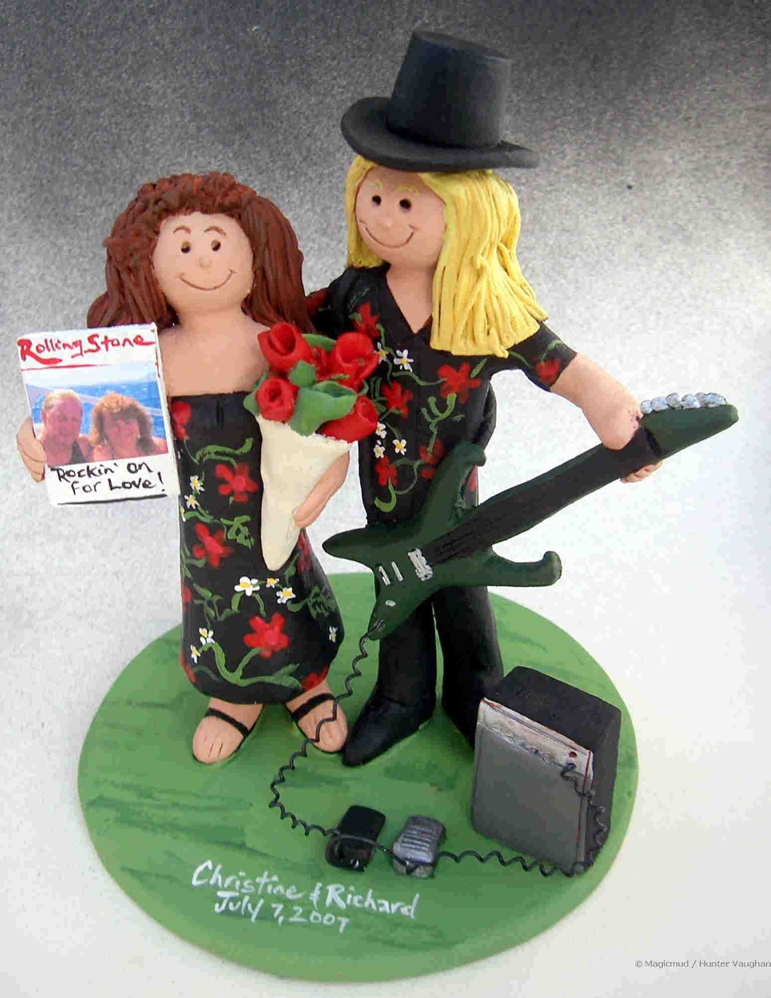 Wedding Cake Topper for a Rock Star