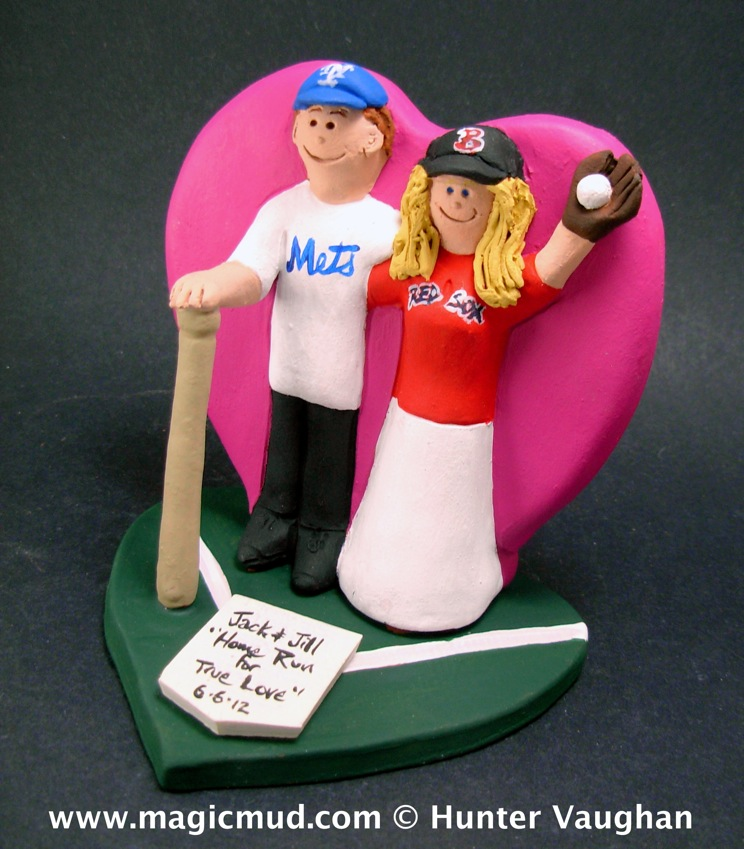 Wedding Cake Toppers for Baseball Fans