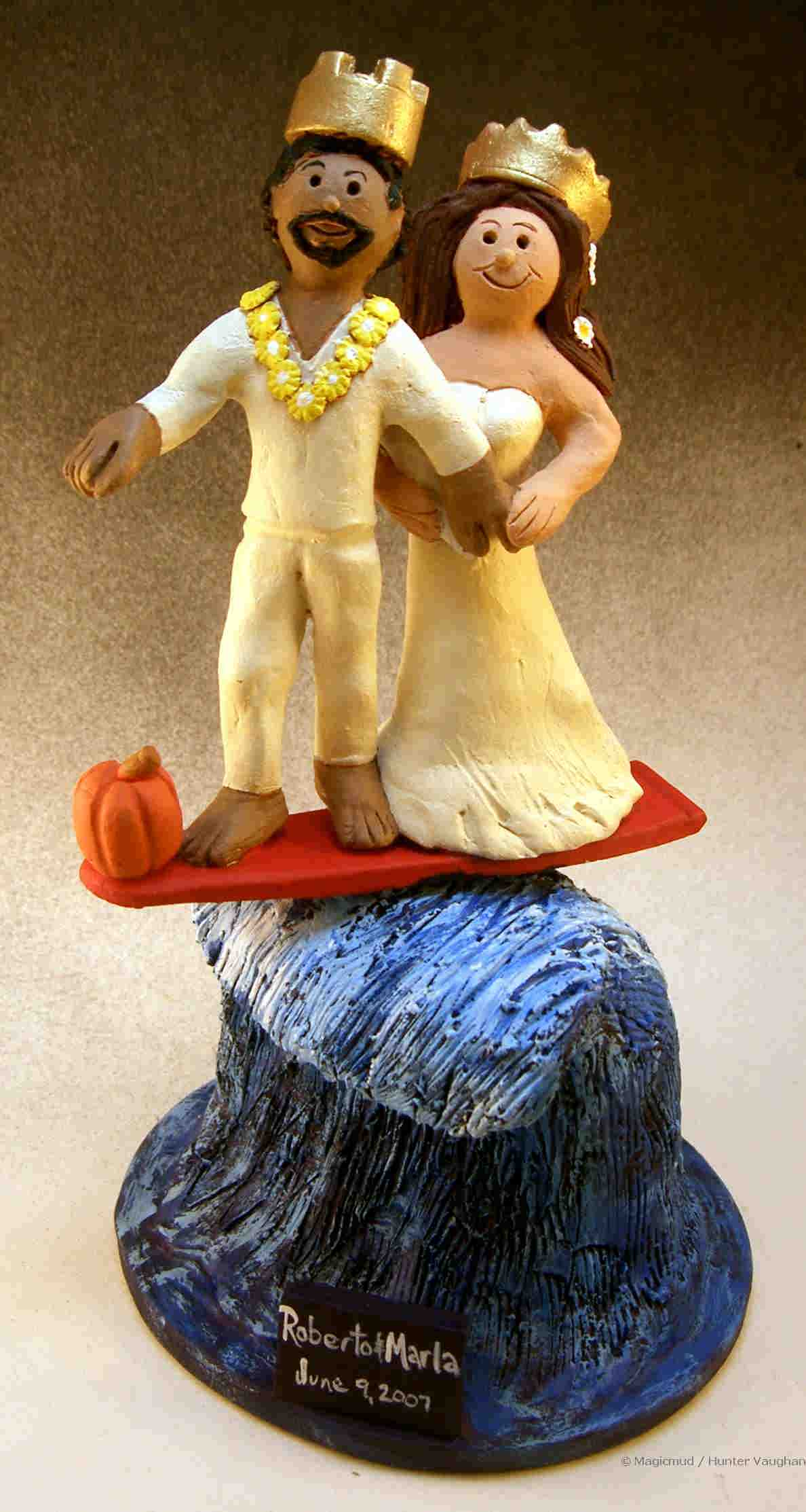 Wedding Cake Topper for Surfers