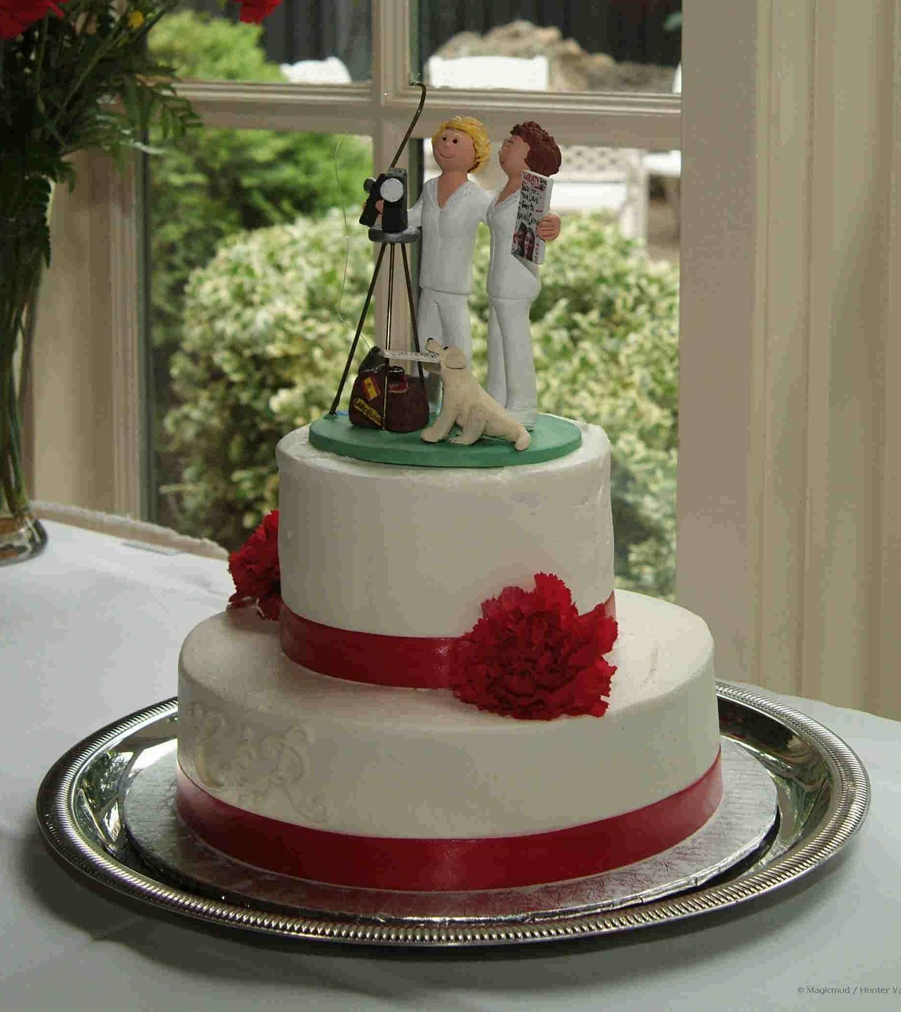 Gay Wedding Cake Topper for Raquel and Carmen!