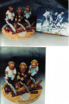 A personalized figurine makes an original present for man's 50th birthday...him and his buddies with their chainsaws